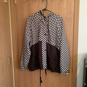 Checkered Windbreaker